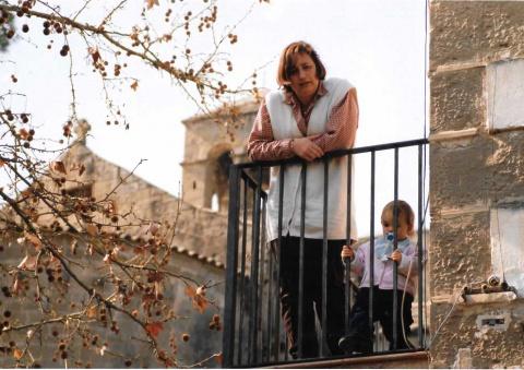L'Eugènia, la meva germana, amb la seva filla Carla.