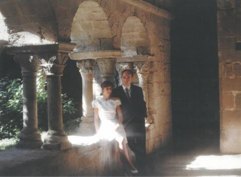 Amb la meva dona al claustre