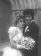 Amb la meva dona davant de l'església