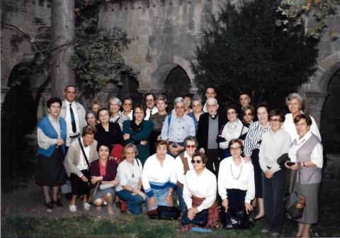 El grup que vam visitar Sant Benet el 22 d'octubre del 89